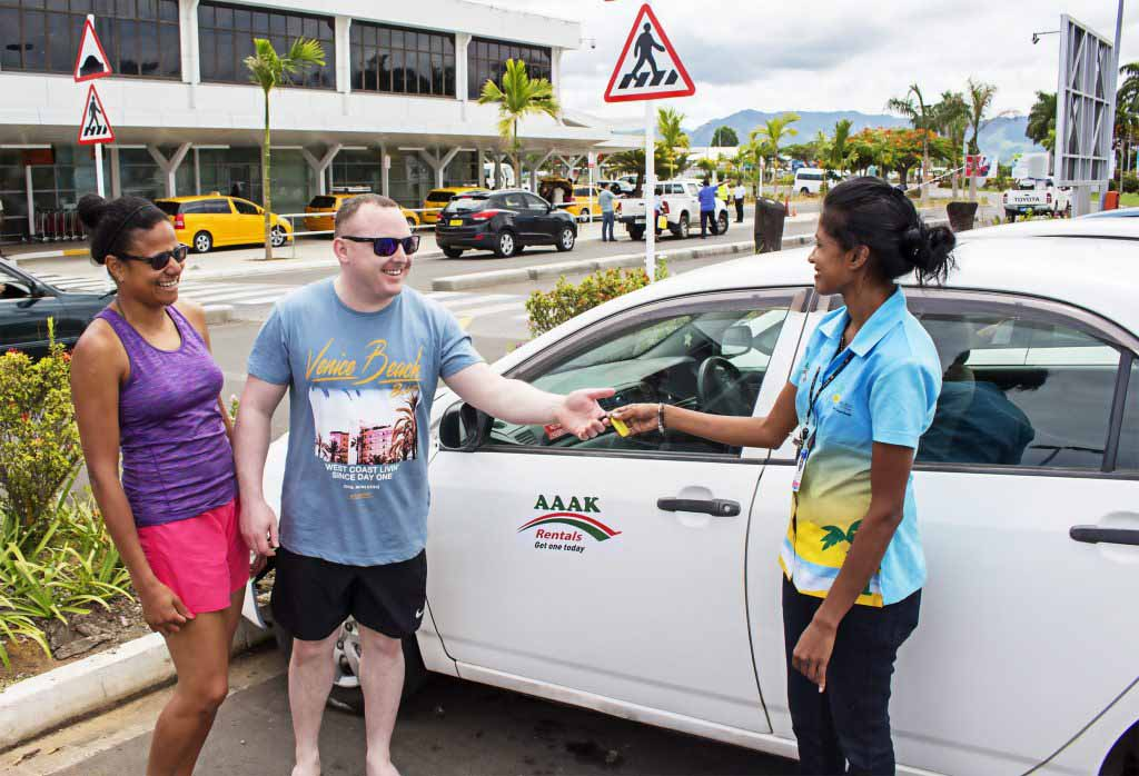 Nadi Airport car handover